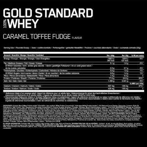 Optimum Nutrition Gold Standard Nutrition Panel
